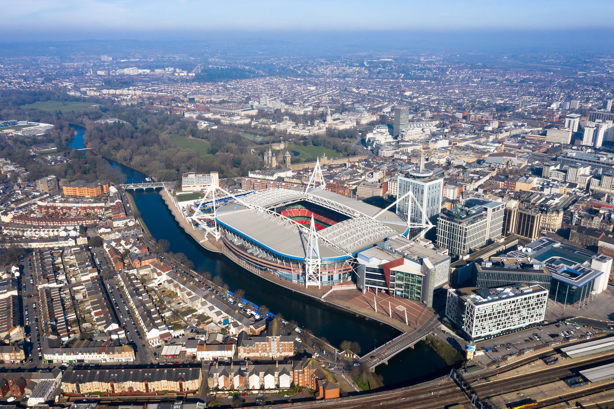 stadium aerial shot